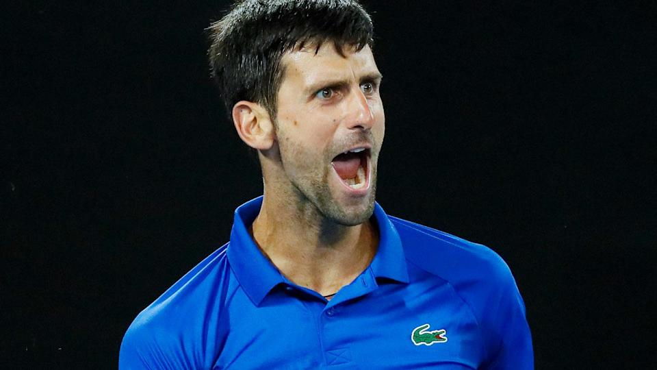 Novak Djokovic stands alone with a record seven Australian Open titles. Pic: Getty