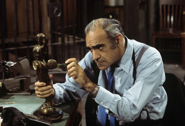 <p>Known for his roles as Phil Fish (Barney Miller, Fish) and Sal Tessio (The Godfather), Abe Vigoda passed away at 94 on January 26. — (Pictured) Abe Vigoda as Det. Phil Fish in a 1976 episode of 'Barney Miller'. (ABC Photo Archives/ABC via Getty Images) </p>