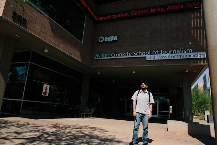 Edder Díaz Martinez at the Walter Cronkite School of Journalism and Mass Communication at Arizona State University in Phoenix on June 14. (Photo: Caitlin O'Hara for Yahoo News)