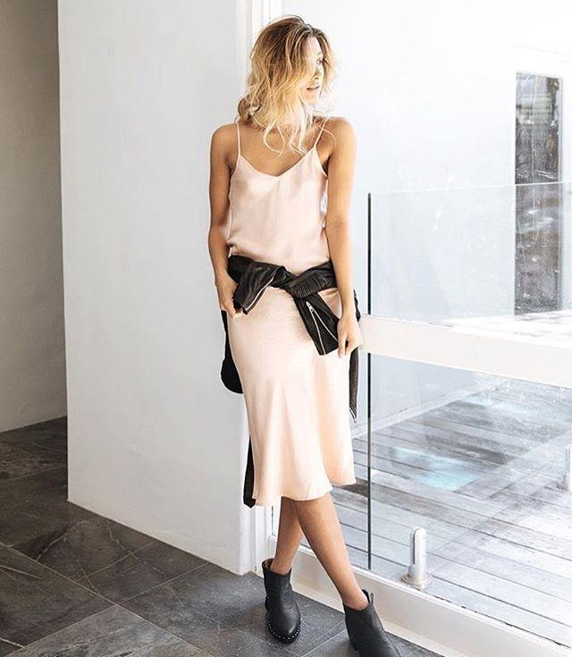 NOW: Silky slip dresses have become an essential in every fashion girl's closet.