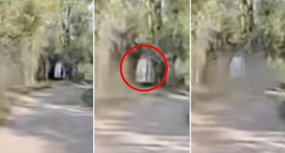 The video captures the rear door closing as the vehicle approaches.  Source: YouTube