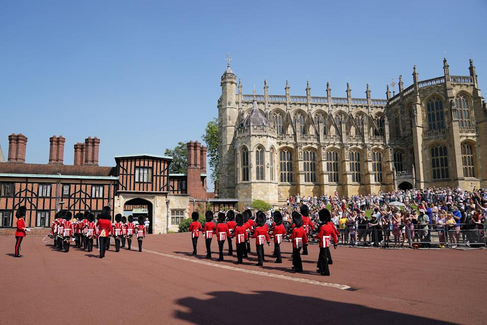The Changing of the Guard at Windsor Castle was staged for the first time in more than a year (Andrew Matthews/PA) (PA Wire)