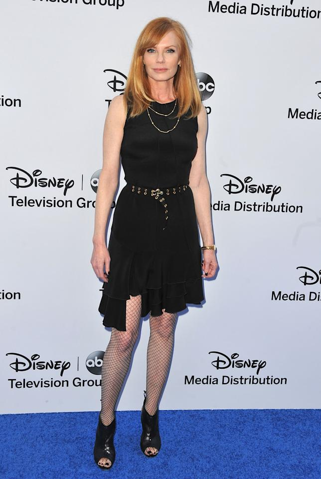 BURBANK, CA - MAY 19:  Actress Marg Helgenberger arrives at the Disney Media Networks International Upfronts at Walt Disney Studios on May 19, 2013 in Burbank, California.  (Photo by Angela Weiss/Getty Images)