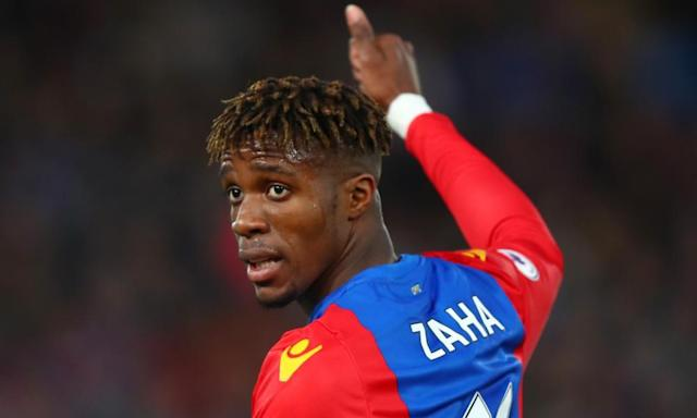 """<span class=""""element-image__caption"""">Wilfried Zaha has enjoyed his most productive top-flight season yet, with six goals and nine assists so far, having signed a new long-term contract with Crystal Palace last year.</span> <span class=""""element-image__credit"""">Photograph: Clive Rose/Getty Images</span>"""