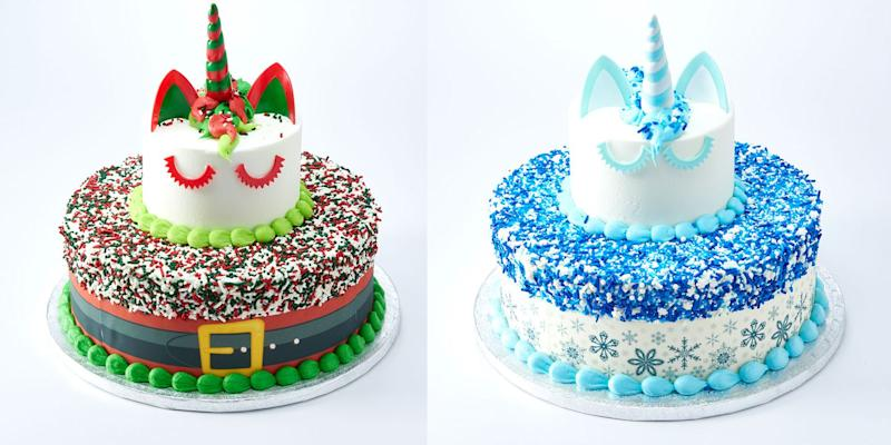 Awesome Sams Club Gave Its Unicorn Cake A Christmas Makeover Funny Birthday Cards Online Alyptdamsfinfo