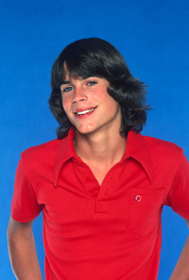 <p>At 15 years old, Rob Lowe began his career in show business on the ABC sitcom, <em>A New Kind of Family. </em>The show lasted only one season, but launched the young actor into the spotlight. <em></em></p>