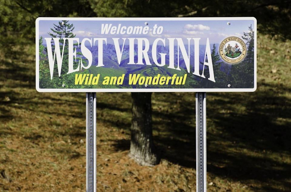 west virginia state welcome sign
