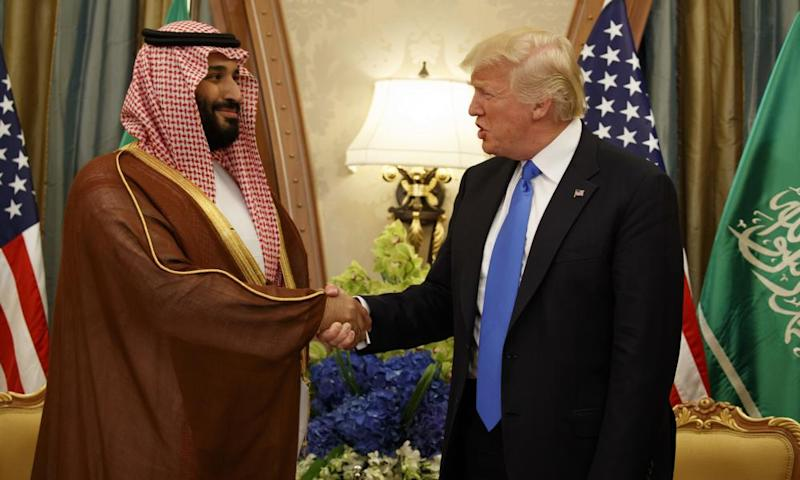 Donald Trump met the Saudi crown prince, Mohammed bin Salman, during an offical visit to Riyadh in May.