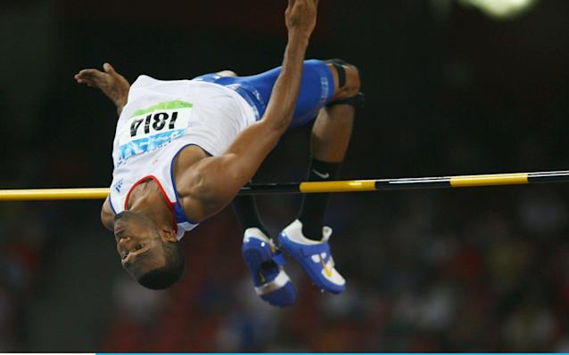 <span>Mason won silver in 2008 with a jump of 2.34m</span> <span>Credit: Getty images </span>