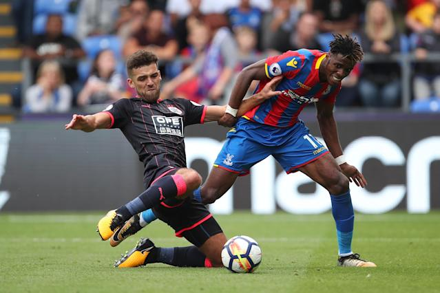 Wilfried Zaha will miss 4 weeks after falling victim to Huddersfield's rugged approach
