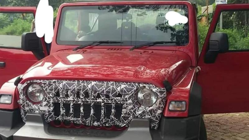 Ahead of launch, 2020 Mahindra Thar spotted with new grille