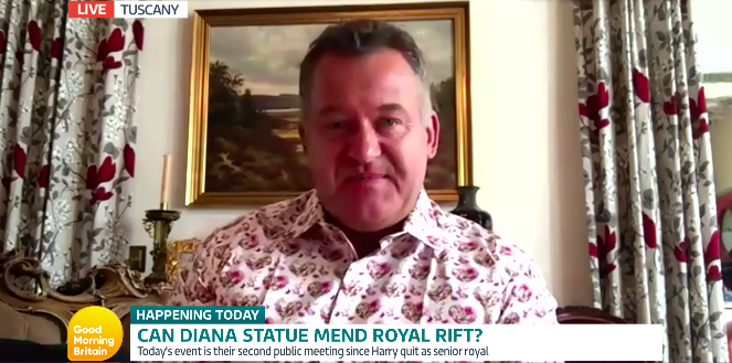 Paul Burrell spoke to Good Morning Britain about the unveiling of the statue in Kensington Palace. (ITV/GMB)