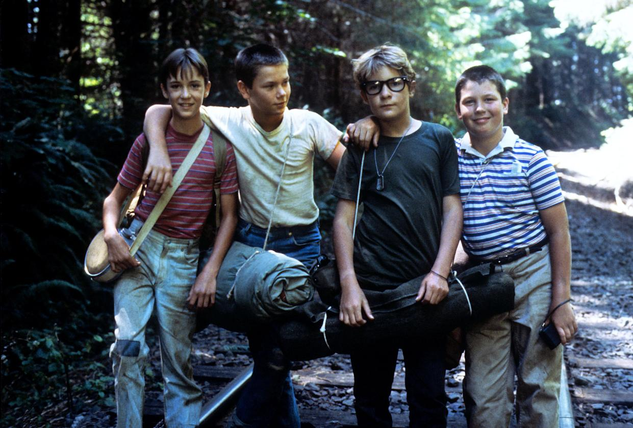 STAND BY ME, Wil Wheaton, River Phoenix, Corey Feldman, Jerry O'Connell, 1986. (c)Columbia Pictures. Courtesy: Everett Collection