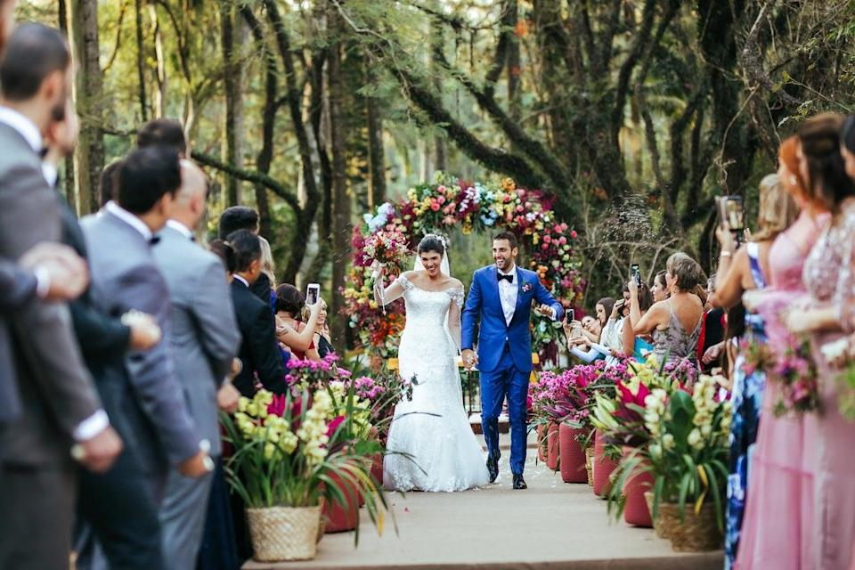 Wedding and civil partnership ceremonies can take place outdoors from July for the first time in England and Wales (Getty Images)
