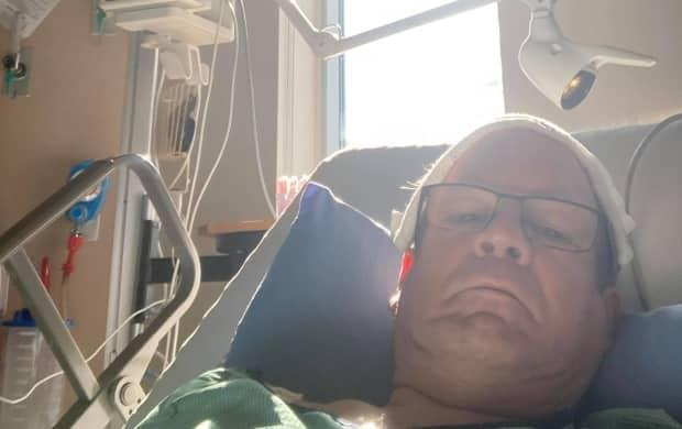 Victoria-La Vallée MLA Chuck Chiasson is waiting to undergo bypass surgery after suffering a heart attack on May 14. (Submitted by Chuck Chiasson - image credit)