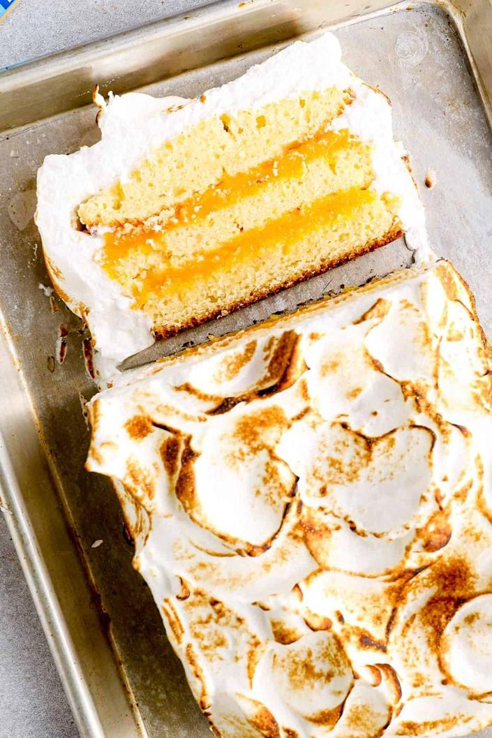 "<p>Attention lemon lovers! Turn your mom's lemon meringue pie obsession into a cake with this fun idea.</p><p><strong>Get the recipe at <a href=""https://www.thecookierookie.com/lemon-meringue-cake-recipe/"" rel=""nofollow noopener"" target=""_blank"" data-ylk=""slk:The Cookie Rookie"" class=""link rapid-noclick-resp"">The Cookie Rookie</a>.</strong></p><p><strong><a class=""link rapid-noclick-resp"" href=""https://go.redirectingat.com?id=74968X1596630&url=https%3A%2F%2Fwww.walmart.com%2Fsearch%2F%3Fquery%3Dloaf%2Bpan&sref=https%3A%2F%2Fwww.thepioneerwoman.com%2Ffood-cooking%2Fmeals-menus%2Fg36066375%2Fmothers-day-cakes%2F"" rel=""nofollow noopener"" target=""_blank"" data-ylk=""slk:SHOP LOAF PANS"">SHOP LOAF PANS</a><br></strong></p>"