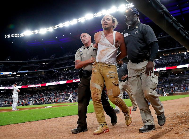 Baseball Fan Goes Viral in the Worst Way After Being Cornered by Security for Sprinting onto the Field
