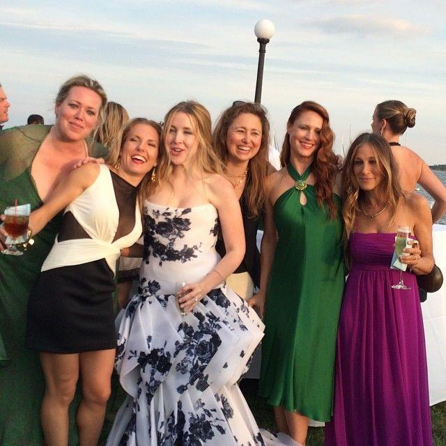 <p>Dressed in plum, SJP supported former assistant Melinda Relyea on her wedding day. <i>(Instagram)</i></p>