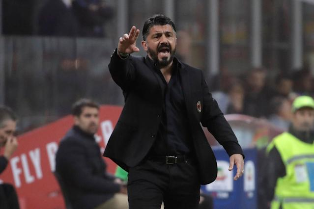 Manager Gennaro Gattuso and AC Milan need a win to ease their top-four concerns, and it won't come easy at Juventus. (AP)