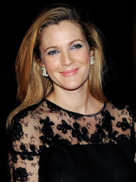 """FILE - In this Sept. 19, 2013 file photo, actress Drew Barrymore attends the New York City Ballet 2013 Fall gala at Lincoln Center, in New York. """"I feel so lucky to make healthy kids that I will never complain about anything because I just know how lucky I am,"""" said Barrymore Wednesday, Dec. 4, 2013, at an event for her cosmetics line, Flower. The 38-year-old actress and her husband Will Kopelman are expecting their second child. (Photo by Evan Agostini/Invision/AP, File)"""