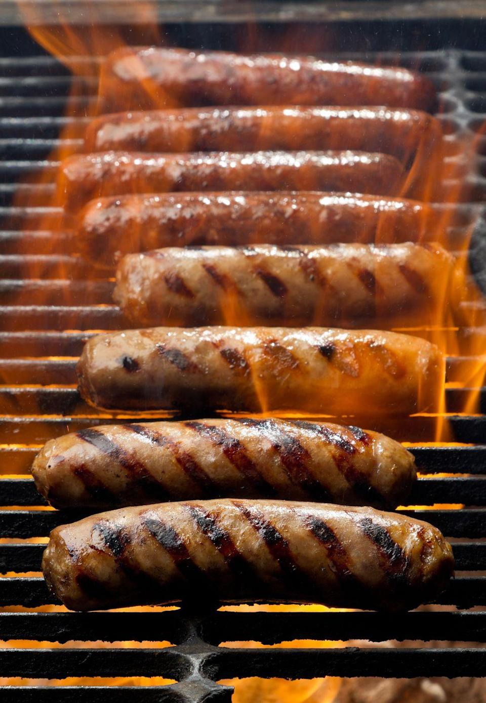 """<p>Bratwurst is taken very seriously in this state. The <a href=""""https://www.bratfest.com/"""" rel=""""nofollow noopener"""" target=""""_blank"""" data-ylk=""""slk:&quot;World's Largest Brat Fest&quot;"""" class=""""link rapid-noclick-resp"""">""""World's Largest Brat Fest""""</a> takes place in Madison every Memorial Day weekend, and Sheboygan has the honor of being the """"Bratwurst Capitol of the World."""" </p><p><strong>RELATED: </strong><a href=""""https://www.goodhousekeeping.com/food-recipes/g413/great-grilling-recipes/"""" rel=""""nofollow noopener"""" target=""""_blank"""" data-ylk=""""slk:60+ Insanely Delicious Grilling Recipes to Try ASAP"""" class=""""link rapid-noclick-resp"""">60+ Insanely Delicious Grilling Recipes to Try ASAP</a></p>"""