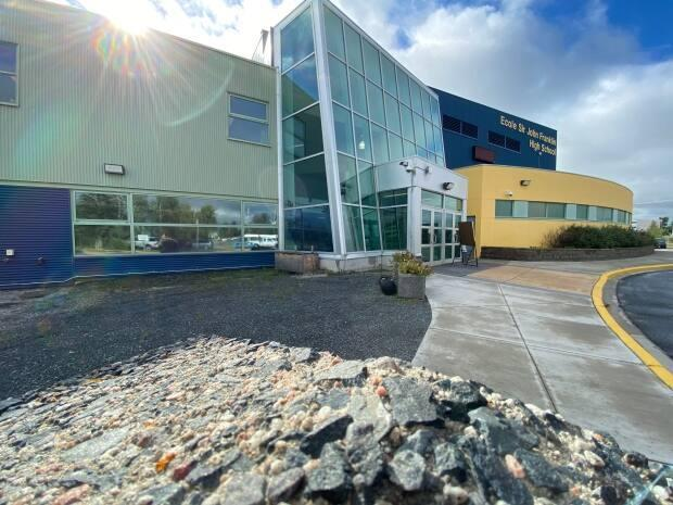 Sir John Franklin High School in Yellowknife, photographed on August 28, 2020. Schools in Yellowknife and other N.W.T. communities are currently closed. (Graham Shishkov/CBC - image credit)
