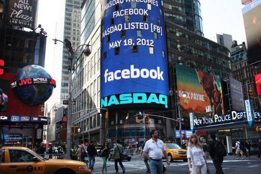 <p>The Nasdaq board in Times Square advertises Facebook which debuted on the Nasdaq Stock Market on May 18 in New York, United States. The horrendous stock market debut for Facebook suggests investors are not ready to jump in and create another tech bubble despite big expectations for social media, analysts say.</p>