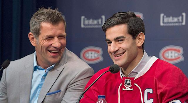 "<a class=""link rapid-noclick-resp"" href=""/nhl/players/4261/"" data-ylk=""slk:Max Pacioretty"">Max Pacioretty</a> is the latest victim of the Bergevin regime. (THE CANADIAN PRESS/Graham Hughes)"