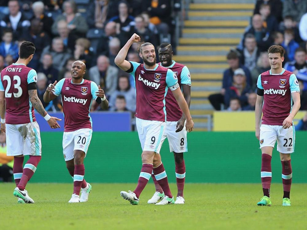 Andy Carroll put the visitors ahead in the 18th minute (Getty)