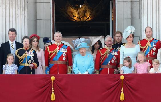 Members of the Royal Family attend the 2018 Trooping the Colour (Getty Images)