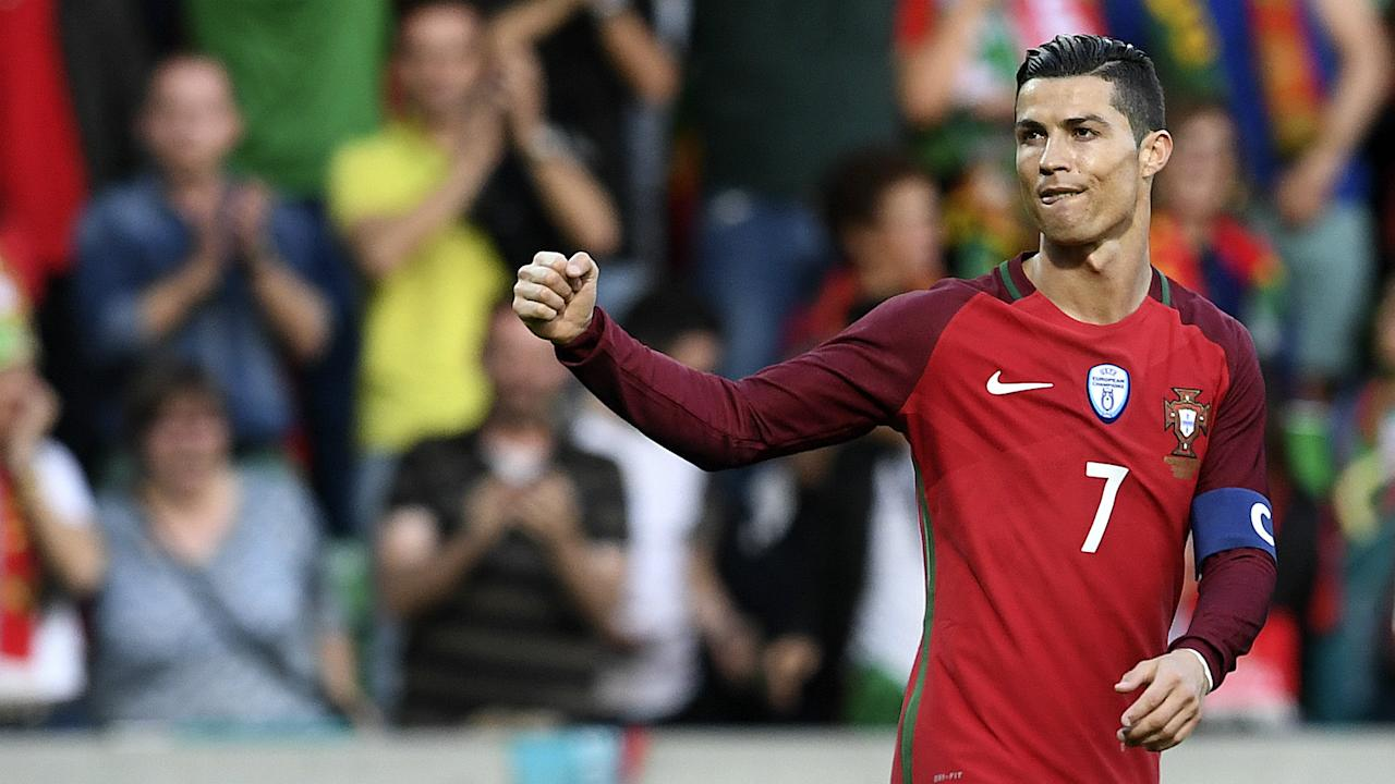The Portugal captain netted his 71st goal for his country in Tuesday's friendly against Sweden, taking him into the top 10 international scorers