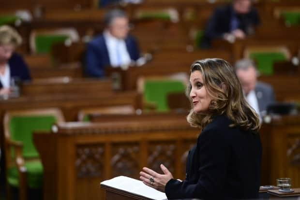 There's a lot riding on Minister of Finance Chrystia Freeland's first budget, to be tabled on April 19. (Sean Kilpatrick/The Canadian Press - image credit)