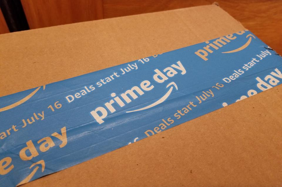 Amazon box for Prime Day. (Photo: Getty Images)