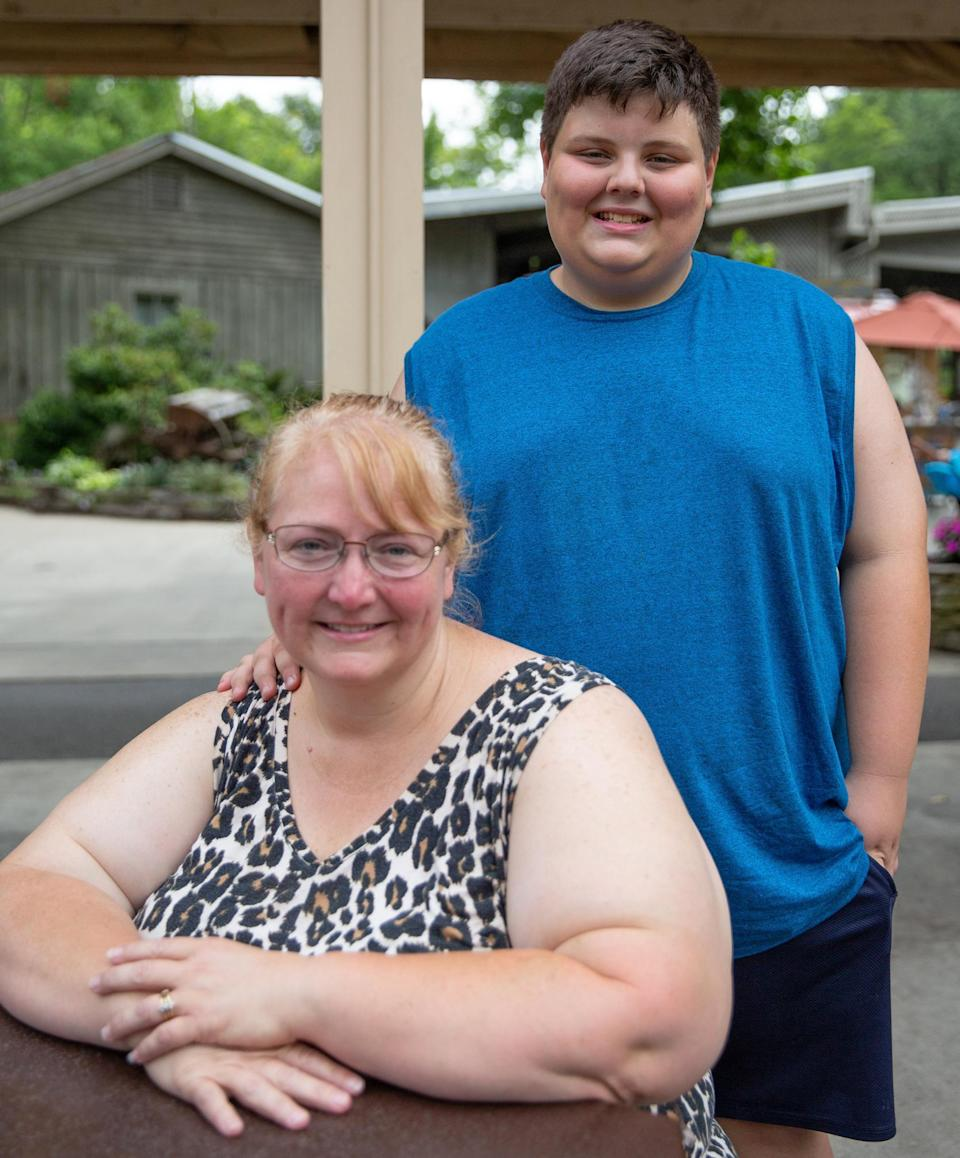 Image: Kimberly Gadd with her son Wesley, 11. (Jessica Tezak / for NBC News)