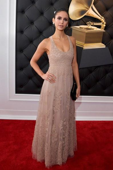 Nina Dobrev attends the 61st Annual GRAMMY Awards at Staples Center on February 10, 2019 in Los Angeles, California.  (Photo by Lester Cohen/Getty Images for The Recording Academy)
