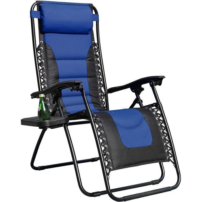 """<p><strong>Freeport Park</strong></p><p>wayfair.com</p><p><strong>$102.90</strong></p><p><a href=""""https://go.redirectingat.com?id=74968X1596630&url=https%3A%2F%2Fwww.wayfair.com%2Foutdoor%2Fpdp%2Farlmont-co-mccullough-reclining-zero-gravity-chair-w002653763.html&sref=https%3A%2F%2Fwww.goodhousekeeping.com%2Fhome-products%2Fg31954468%2Fbest-beach-chairs%2F"""" rel=""""nofollow noopener"""" target=""""_blank"""" data-ylk=""""slk:Shop Now"""" class=""""link rapid-noclick-resp"""">Shop Now</a></p><p>This brand claims that sitting on this beach chair is<strong> similar to that of sitting on a couch</strong>. It's padded throughout, from the headrest to right above your feet. The chair features a reclining system that locks into place, but note that some reviewers found it tricky to master at first. Also included is a small cup holder and food tray on the side. </p>"""
