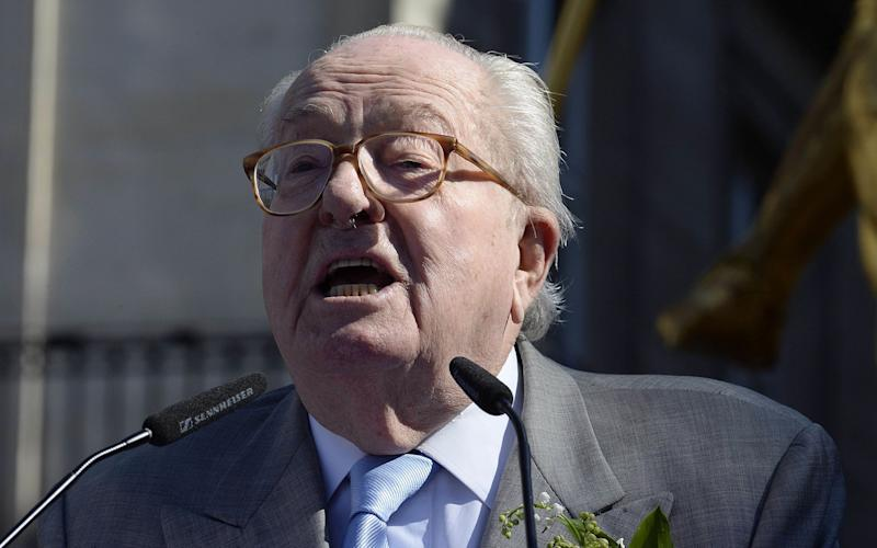 France's far-right Front National (FN) party founder and former leader Jean-Marie Le Pen - Credit: AFP