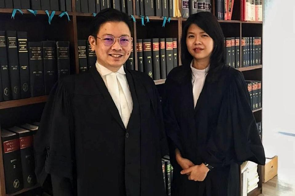 Simon Siah (left) and Clarice Chan are the lawyers representing the five Malaysian youths in their lawsuit against the prime minister, the Malaysian government and Election Commission. ― Picture courtesy of Simon Siah and Clarice Chan