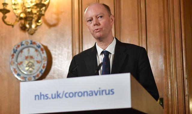 Coronavirus: 'Critical point' in pandemic as UK infection rate heading in wrong direction, says chief medical officer