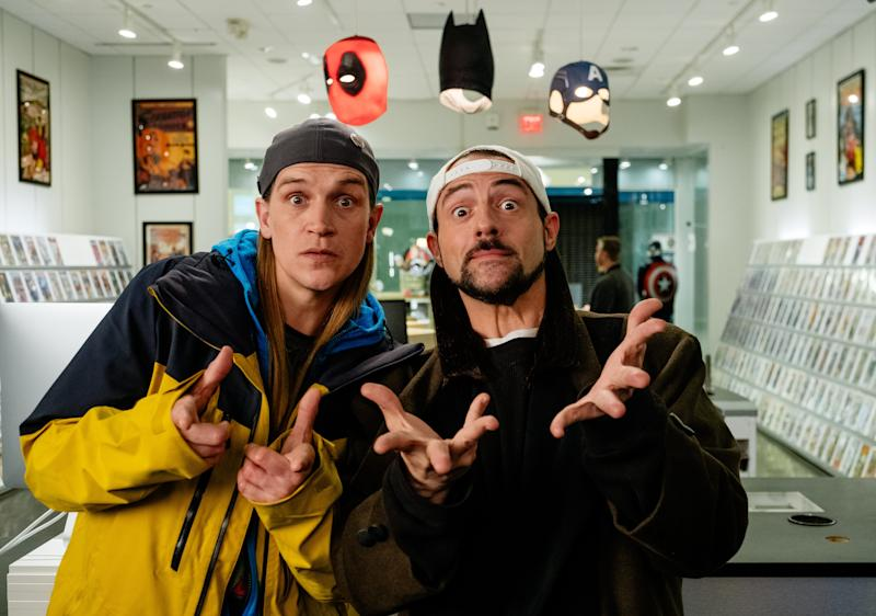 Jay (Jason Mewes, left) and Silent Bob (Kevin Smith) head to Hollywood in an attempt to sabotage a reboot of a film inspired by them.