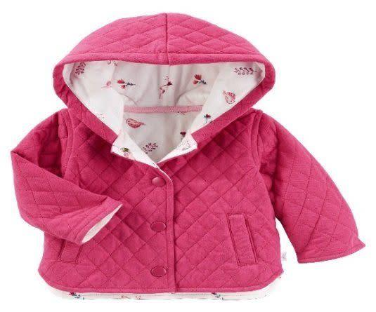 The recall affects the OshKosh Baby B'gosh quilted jackets in pink and gray.