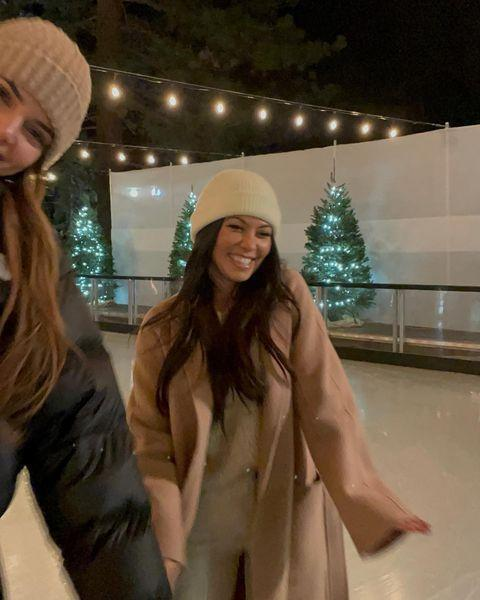 "<p>The sisters donned their ice skates and wooly hats for an evening of ice skating a week before Christmas. 'Happy,' the eldest reality star captioned a series of photos from their 'expedition'.</p><p><a href=""https://www.instagram.com/p/CItdc8BFEMt/?utm_source=ig_web_copy_link"" rel=""nofollow noopener"" target=""_blank"" data-ylk=""slk:See the original post on Instagram"" class=""link rapid-noclick-resp"">See the original post on Instagram</a></p>"