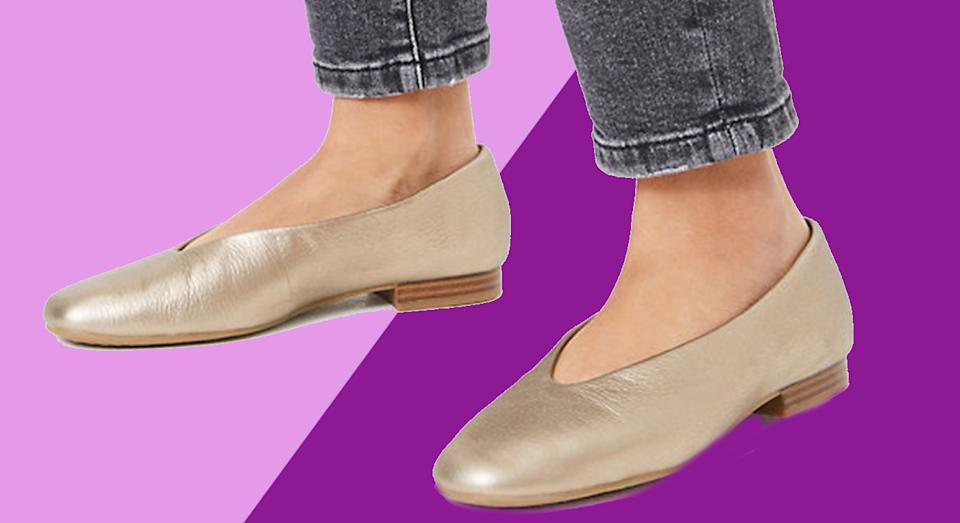 M&S' leather pumps have been hailed 'the most comfortable shoes ever' by customers. (M&S)