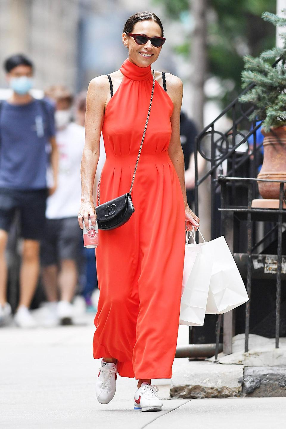 <p>Minnie Driver shops at Westerlind in N.Y.C.'s Soho on August 1. </p>