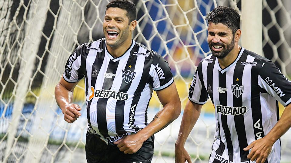 Hulk, pictured here after scoring a goal for Atletico MG against Sport Recife.