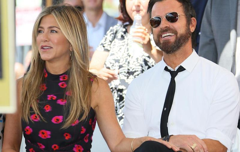 Jen married actor Justin Theroux in 2015 after four years of dating but recently announced their split. The pair are pictured here together in 2017. Source: Getty