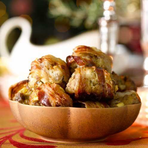 """<p>A delicious twist on traditional Christmas stuffing</p><p><strong>Recipe: <a href=""""https://www.goodhousekeeping.com/uk/food/recipes/a535864/apple-and-lemon-thyme-stuffing/"""" rel=""""nofollow noopener"""" target=""""_blank"""" data-ylk=""""slk:Apple and lemon thyme stuffing and stuffing balls"""" class=""""link rapid-noclick-resp"""">Apple and lemon thyme stuffing and stuffing balls</a></strong></p>"""