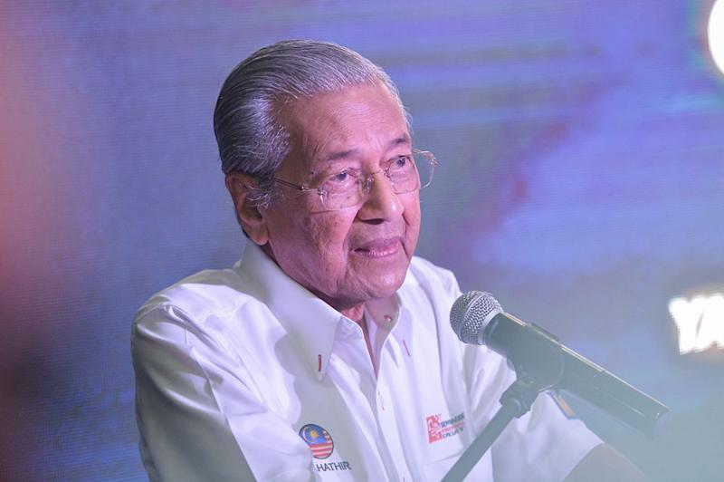 Prime Minister Tun Dr Mahathir Mohamad said the PH government might have to sell public assets in order to service the loans accumulated by the previous BN administration. — Picture by Mukhriz Hazim