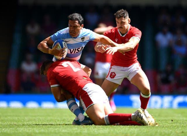 Matias Moroni in action against Wales