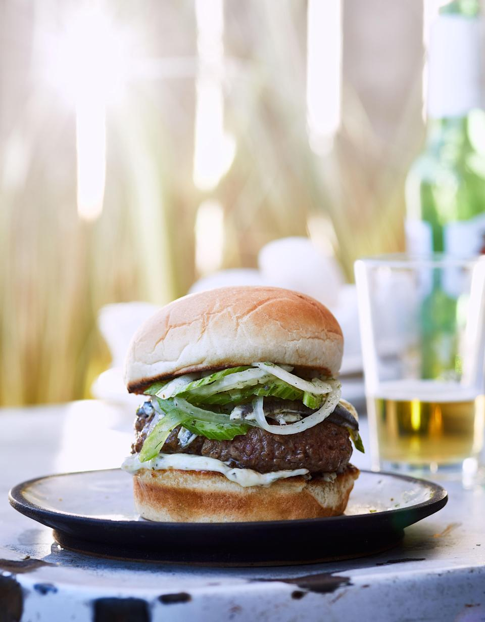 """For this lamb burgers recipe, you'll want to splurge on good sturdy bakery buns that can absorb the extra liquid from the slaw and burger without disintegrating. This recipe is from <a href=""""http://www.bonappetit.com/story/harts?mbid=synd_yahoo_rss"""" rel=""""nofollow noopener"""" target=""""_blank"""" data-ylk=""""slk:Hart's"""" class=""""link rapid-noclick-resp"""">Hart's</a> in Brooklyn, our <a href=""""http://www.bonappetit.com/hot10?mbid=synd_yahoo_rss"""" rel=""""nofollow noopener"""" target=""""_blank"""" data-ylk=""""slk:#5 Best New Restaurant in America 2017"""" class=""""link rapid-noclick-resp"""">#5 Best New Restaurant in America 2017</a>. <a href=""""https://www.bonappetit.com/recipe/lamb-burgers-with-lemon-caper-aioli-and-fennel-slaw?mbid=synd_yahoo_rss"""" rel=""""nofollow noopener"""" target=""""_blank"""" data-ylk=""""slk:See recipe."""" class=""""link rapid-noclick-resp"""">See recipe.</a>"""